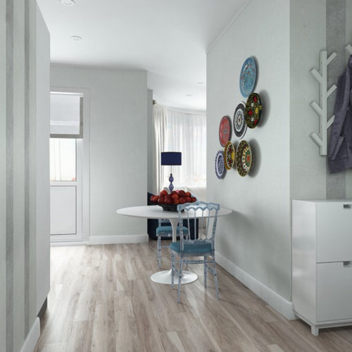 SK Interiors | Studio apartment with bow window, 43 m²