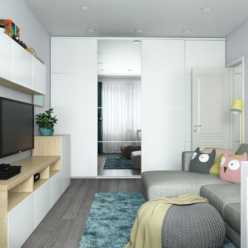 SK Interiors | Design-project of a two-room apartment, in the block II-49 series, 46 м²