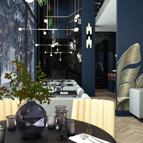 SK Interiors | Design-project of a restaurant, moscow, 178 m²