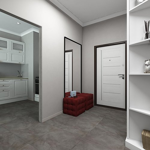 SK Interiors | Design-project of an apartment in residential complex «Filigrad», 62 м²